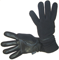 Перчатки женские МUTKA флис/ кожа арт. 2409/ 2245 цв. black