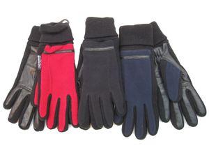 Перчатки женские МUTKA флис/ кожа арт. 2409/ 2245 цв. dark blue